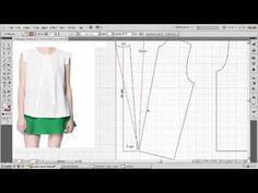 Tişört kalıbı üzerine model uygulama 8  / T-short pattern on the model a...