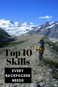 Top 10 skills every backpacker needs to tackle their first long distance hiking trip or first solo backpacking trip. Top 10 skills every backpacker needs to tackle their first long distance hiking trip or first solo backpacking trip. Backpacking For Beginners, Backpacking Tips, Hiking Tips, Hiking Gear, Hiking Backpack, Ultralight Backpacking, Hiking Shoes, Hiking Clothes, Travel Backpack