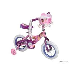 Cool Huffy 12-Inch Girls Disney Princess Bike (Shimmer Pink/Glitter Pink)