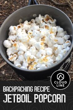 Popcorn is one of the easiest snacks to make when backpacking and hiking. If you have a backpacking stove and a pot, the only ingredients you need are popcorn, oil, and salt. #backpackingrecipe #recipe #popcorn #jetboil #camping #backpacking