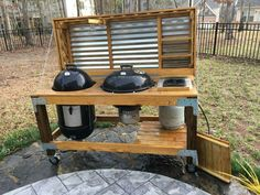 Fantastic Pictures outdoor kitchen charcoal grill Thoughts Out-of-doors kitchedeborah pattern is highly lucrative inside your home design and style industry. Bbq Kitchen, Backyard Kitchen, Outdoor Kitchen Design, Backyard Bbq, Open Kitchen, Outdoor Grill Area, Outdoor Grill Station, Outdoor Grilling, Grilling Ideas