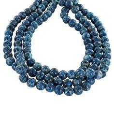 CHRYSOCOLLA Beads 10mm Round Blue New World Gems by NewWorldGems