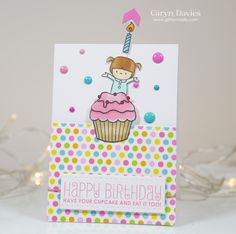 Super cute card by Caryn Davis using the Mama Elephant stamp
