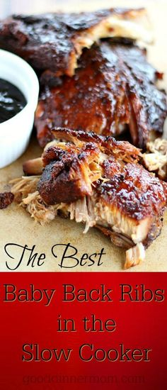 Baby Back Ribs in the Slow Cooker Best Baby Back Ribs in the Slow Cooker. Fall-off-the-bone delicious with an Asian-inspired sauce.Best Baby Back Ribs in the Slow Cooker. Fall-off-the-bone delicious with an Asian-inspired sauce. Crock Pot Slow Cooker, Slow Cooker Recipes, Cooking Recipes, Healthy Recipes, Crock Pot Ribs, Crockpot Meals, Ribs In Slow Cooker, Cooking Ribs In Crockpot, Ribs Crockpot Recipes