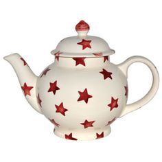 """Red Star"" Red Star 4 Cup #Teapot at Emma Bridgewaterhttp://www.emmabridgewater.co.uk/invt/1rst010104"