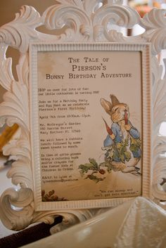 "Photo 15 of 22: The Tale of Peter Rabbit / Birthday ""The Tale of Pierson's Bunny Birthday Adventure"" 