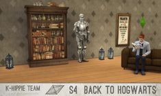 The Sims Resource: Back to Hogwarts set - Bookcase by Blackgryffin • Sims 4 Downloads