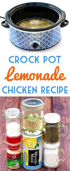 Crock Pot Lemon Chicken Recipe!  This easy Slow Cooker dinner is so delicious, and sure to be a family favorite!