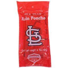MLB St. Louis Cardinals Rain Poncho, Adult Unisex, Multicolor