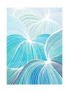 Flow Art Print by Gill Eggleston Design Ltd   Minted