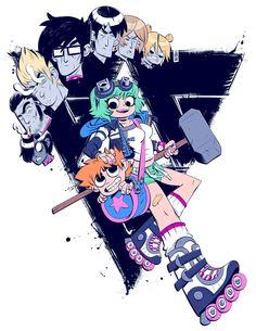"Stephane Boutain for ""Scott Pilgrim"" Comic Books Art, Comic Art, Scott Pilgrim Comic, Bryan Lee O Malley, Ramona Flowers, Vs The World, Arte Pop, Anime Comics, Manga"