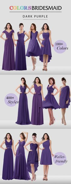 Purple bridesmaid dresses are all custom made to flatter your figure and their affordable prices never break your bank out!