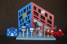 finger puppets-Fire station