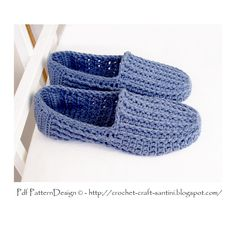 Ravelry: Ribbed Denim Loafers by Sophie and Me-Ingunn Santini