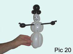 Balloon animals twisting instructions: Balloon snowman