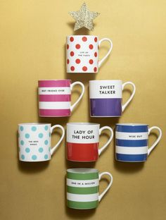 Recognize the people who made your year extra special with these cute tokens of friendship from kate spade new york. This collection of monogram mugs makes an unforgettable group gift.