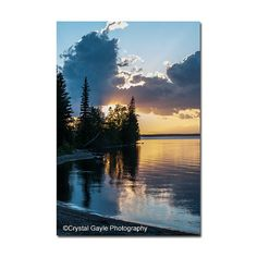 Sunset Photography Cottage Wall Art Print by CrystalGaylePhoto