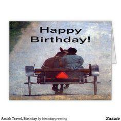 Amish Travel, Birthday Greeting Card