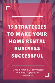 15 Strategies To Make Your Home Rental Business Successful | Brand Marketing Tips