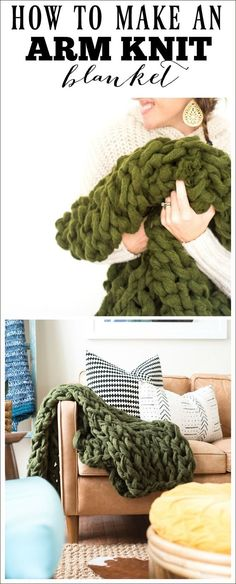 How To Make An Arm Knit Blnaket