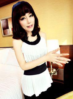 [qz052] เสื้อผ้าแฟชั่น เสื้อเกาหลี ผ้าชีฟอง เซ็กซี่ | SoMoreMore.Com