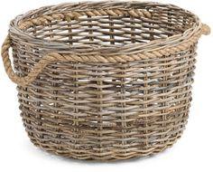 Large Kobu Natural Storage Basket - Clearance - T. Large Storage Baskets, Baskets On Wall, Wicker Baskets, Home Office Storage, Flower Girl Basket, Wicker Furniture, Tj Maxx, Easter Baskets, Cozy House