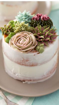 Pretty Cakes, Beautiful Cakes, Amazing Cakes, Cake Decorating Designs, Cake Decorating Techniques, Decorating Tips, Cool Cake Designs, Mini Cakes, Cupcake Cakes