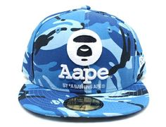 Blue Camo AAPE 59Fifty Fitted Cap by BAPE x NEW ERA