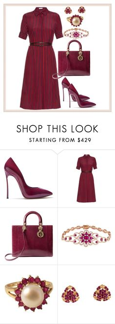 """Nothing more"" by amisha73 ❤ liked on Polyvore featuring Casadei, Altuzarra, Christian Dior and Vintage"