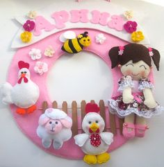 Babby decor ,Handmade, Felt, Room Decor, Ornament, Nursery Decor, toys,Personalized Name Banners