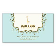 Childcare And Babysitting Business Card Template cakepins.com ...