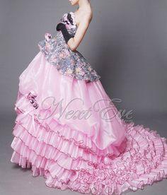 Organza Strapless Layered Ball Gown Prom Dress  ren10a12 by livapo, $169.00
