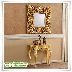 Meja Dinding Model Klasik Olimpia, Meja Dinding Klasik, Meja Rias, Meja Console, Meja Dinding, Meja Dinding Kaca