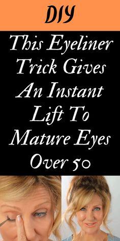 Hair And Makeup Tips, Eye Makeup Tips, Skin Makeup, Flawless Face Makeup, Makeup Tricks, Home Beauty Tips, Health And Beauty Tips, Saggy Eyes, Droopy Eyelids