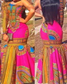 dashiki dress/african print dress by TMFashionaccessories on Etsy