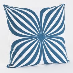 Pinwheel Cotton Throw Pillow