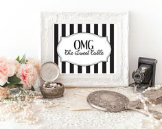 OMG Sweet Table Sign Printables by PapierCouture1