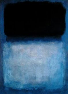 Mark Rothko - intense black and  complicated blue
