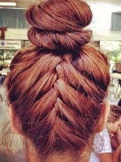 Braided Bun - cant wait for my hair to be longer for this Pretty Hairstyles, Girl Hairstyles, Braided Hairstyles, Braided Updo, Amazing Hairstyles, Style Hairstyle, Updo Hairstyle, Summer Hairstyles, Wedding Hairstyles