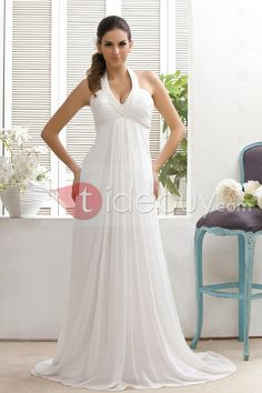 Halter top wedding dress