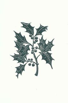 Holly Linocut Christmas Card // Handmade by InkshedPress on Etsy Christmas Card Packs, Christmas Art, Holly Christmas, Christmas Pictures, Linoprint, Stamp Printing, Linocut Prints, Printmaking, Lino Cuts