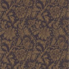 Cochin Wallpaper from Zoffany Jaipur Collection. A stunning wallpaper with a distressed floral damask print in rust on a dark coffee background. Zoffany Wallpaper, Damask Wallpaper, Adhesive Wallpaper, Designer Wallpaper, Plain Wallpaper, Feature Wallpaper, Interior Wallpaper, Fashion Wallpaper, Rust Paint