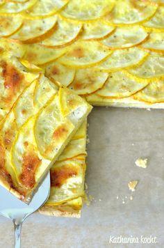 Gelbe Zucchini-Parmesan-Tarte für Uwe | Katharina kocht