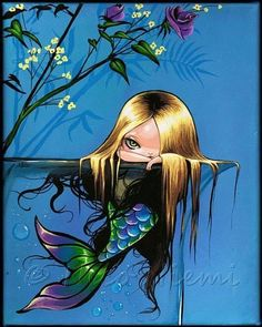 Beautiful mermaids pictures - Hot sexy mermaid pictures posts beautiful mermaid art from many different mermaid artists. Mermaid Fairy, Siren Mermaid, Baby Mermaid, Unicorns And Mermaids, Mermaids And Mermen, Magical Creatures, Fantasy Creatures, Fantasy Kunst, Fantasy Art