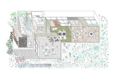 Archdaily best architecture drawings 2016, above courtesy of Kazuyuki Takeda