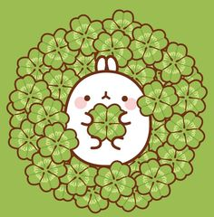 Molang and clovers