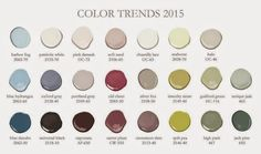"""Behr 2015 color for Spring and summer """"Guilford Green """" & all colors to choose to use with it."""