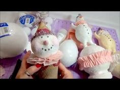 DIY Paperclay Snowman Tutorial - YouTube