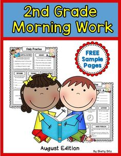 Smiling and Shining in Second Grade: Morning Work for Second Grade Giveaway Second Grade Science, 2nd Grade Ela, 2nd Grade Teacher, 2nd Grade Classroom, Classroom Ideas, Classroom Resources, Grade 2, Third Grade, Teaching Resources