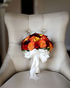 Orange Wedding Bouquets  Ideas, Orange Wedding Bridal Bouquet Ideas